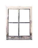 Vieux châssis de fenêtre rustique Images libres de droits