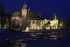 Vieux château au crépuscule à Budapest Photo stock