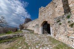 Vieux château bizantin du 12ème siècle dans Platamonas Région Macédoine Grèce d'Olympe photo libre de droits