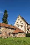 Vieux château dans la ville médiévale de Buedingen Photographie stock libre de droits