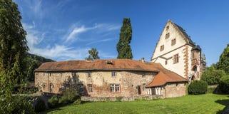 Vieux château dans la ville médiévale de Buedingen Image stock