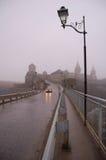 Vieux château dans le brouillard Photographie stock libre de droits