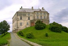 Vieux château dans Olesko, Ukraine Photographie stock libre de droits