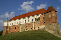 Vieux château dans Sandomierz Photo libre de droits