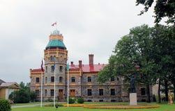 Vieux château dans Sigulda, Lettonie Image libre de droits