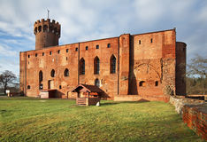 Vieux château dans Swiecie poland Photo stock