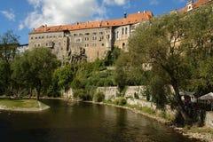 Vieux château de Cesky-Krumlov Images stock