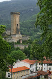 Vieux château de Foix Images stock