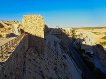 vieux château de ruine en Jordanie image libre de droits