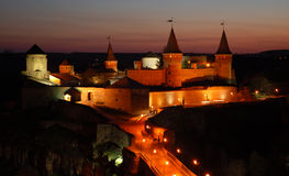 Vieux château dedans dans Kamianets-Podilskiy Photographie stock libre de droits