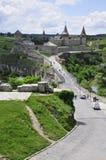 Vieux château dedans dans Kamianets-Podilskiy Photographie stock