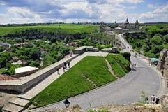 Vieux château dedans dans Kamianets-Podilskiy Photo libre de droits