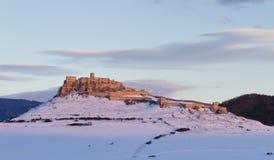 Vieux château en hiver Photos libres de droits