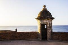 Vieux château en San Juan Puerto Rico image libre de droits