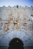 Vieux château espagnol de forteresse fait en pierre Photos libres de droits