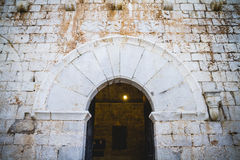 Vieux château espagnol de forteresse fait en pierre Image libre de droits