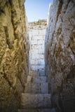 Vieux château espagnol de forteresse fait en pierre Images stock
