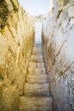 Vieux château espagnol de forteresse fait en pierre Image stock