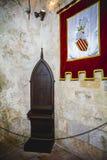 Vieux château espagnol de forteresse fait en pierre Photo libre de droits