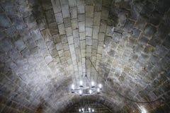 Vieux château espagnol de forteresse fait en pierre Photographie stock