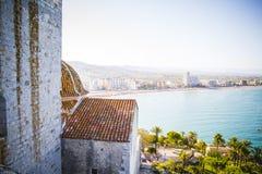 Vieux château espagnol de forteresse par la mer Photo libre de droits
