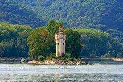 Vieux château, le Rhin River Valley Photo stock