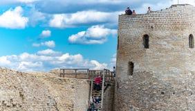 Vieux château médiéval d'Izborsk en Russie image libre de droits