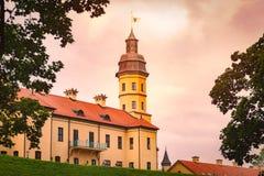 Vieux château médiéval dans Nesvizh, Belarus image stock