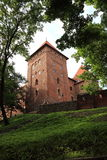 Vieux château Nidzica de la Pologne Photos libres de droits