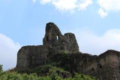 Vieux château normand du ` s, et ville médiévale, Lamezia Terme, Calabre, Italie Images libres de droits