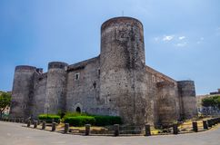 Vieux château royal médiéval Castello Ursino, Sicile, Catane, Ital photo stock