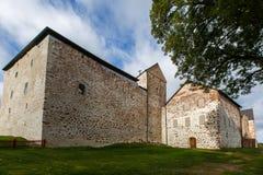 Vieux château sur des îles d'Aland Photographie stock