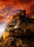 Vieux château sur la côte de la Mer Noire Photographie stock