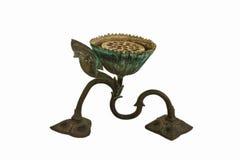 Vieux chandelier en bronze. Photo libre de droits