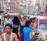 Vieux chaos de Delhi Photos libres de droits