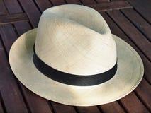 Vieux chapeau de Panama Images libres de droits