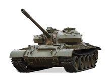Vieux char de bataille T-55, Russie Images libres de droits