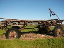 Vieux chariot 1 de vin image stock