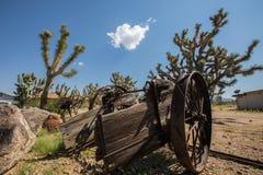 Vieux chariot abandonné dans le désert de l'Arizona Images stock