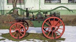 Vieux chariot d'incendie photo stock