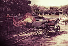 Vieux chariot de cheval, Moldau Photo stock