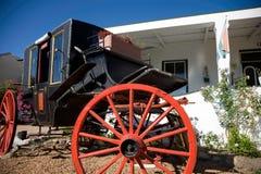 Vieux chariot de chevaux dans Franschhoek photographie stock libre de droits