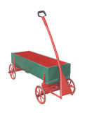 Vieux chariot en bois de traction d'isolement Images stock