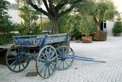 Vieux chariot en pavant la rue Photo libre de droits
