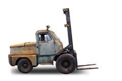 Vieux chariot gerbeur rouillé Images stock