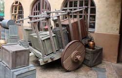 Vieux chariot occidental Image stock