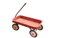 Vieux chariot rouge Image libre de droits