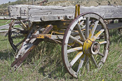Vieux chariots du Wyoming Image stock