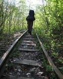 Vieux chemin de fer Image libre de droits