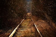 Vieux chemin de fer Photographie stock